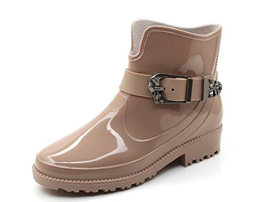名詞銀行薄いYFS レディース レインシューズ ショート雨靴 レインブーツ オシャレ 雨の日晴れの日兼用 快適 防水 耐滑 可愛い