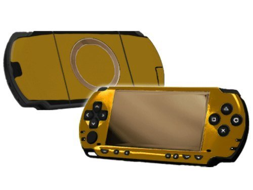 (Sony PlayStation Portable 1000 (PSP) Skin - NEW - GALLANT GOLD system skins faceplate decal mod by System Skins)