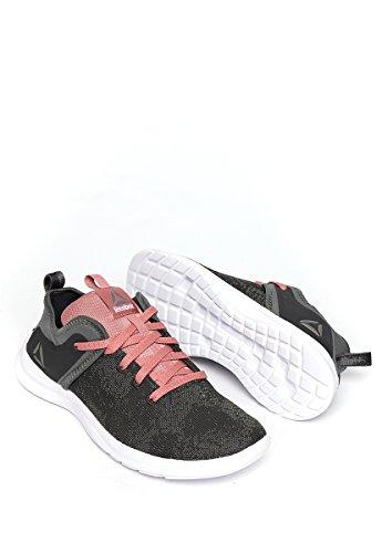 Reebok Solestead Ns, Zapatillas de Deporte para Mujer Gris (Ironstone / Coal / Sandy Rose / White)