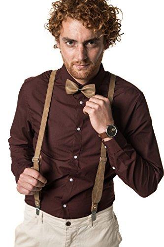 Marino Fashionable Suspender Leather adjustable product image