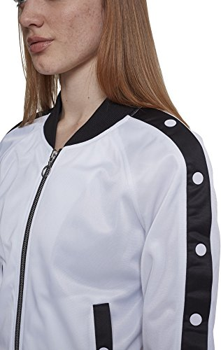 Wht Button Ladies Urban Wht Chaqueta Deportiva Mujer Blk para Blanco Up 00863 Classics Jacket Track PqwEqr