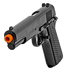 Red Jacket 1911 6mm Airsoft Pistol with BB's-BLK