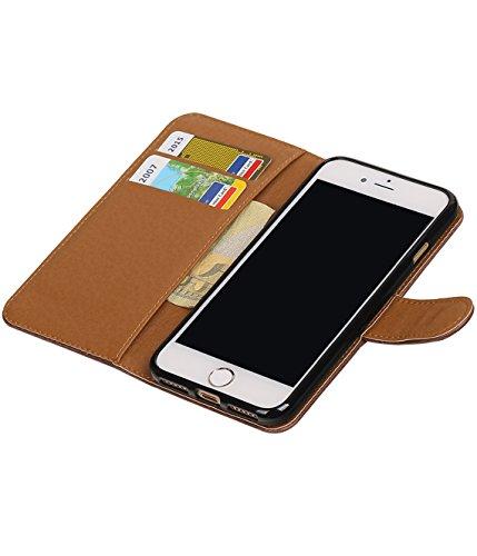 MobileFashion Pull-Up Book Cases pour Iphone 7 Portefeuille Case Cover Booktype avec Slots pour cartes et support