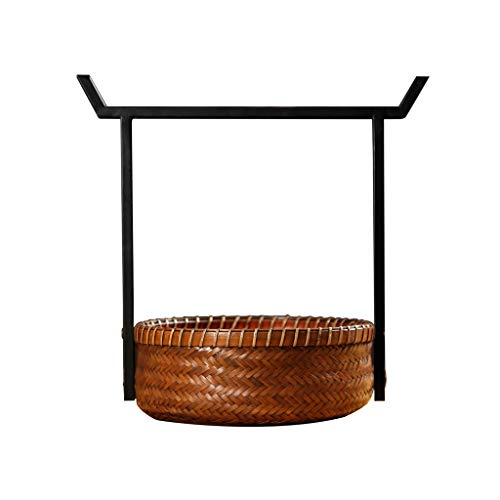 Picnic Baskets Vintage Bamboo Picnic Baskets Chinese Iron Handle Baskets Portable Lunch Boxes Shopping Storage Gift Baskets Storage Boxes & Chests Durable Picnic Baskets