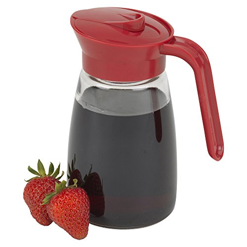 12 Ounce Glass Pourer - Good Cook Glass Syrup Dispenser, 12 oz, Clear