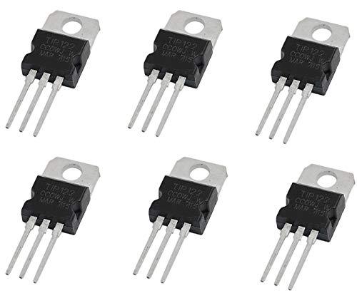 Tech Express 6PCS TIP122 5A 100V TO-220 NPN Darlington Transistor TIP122