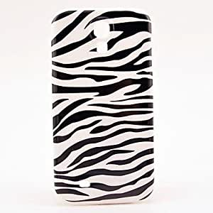 AES - Zebra Stripe Pattern Plastic Protective Back Cover for Samsung Galaxy S4 I9500
