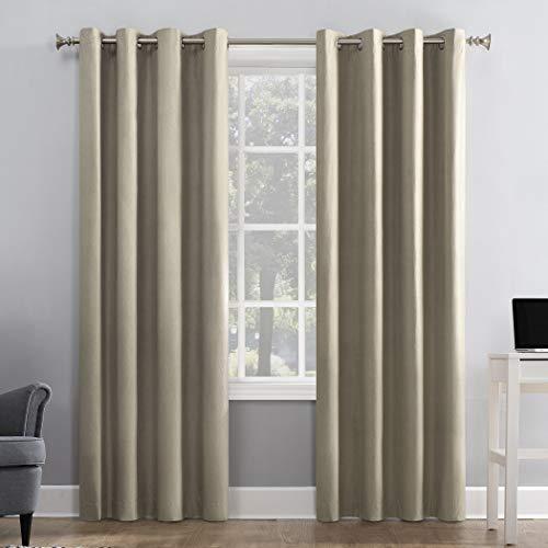 Sun Zero Duran Thermal Insulated 100% Blackout Grommet Curtain Panel, 50
