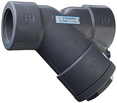 Hayward YS20200T 2-Inch Threaded CPVC Plastic Y-Strainer with FPM O-ring Seals by Hayward