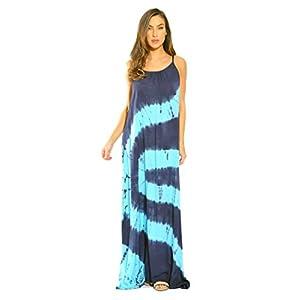 Riviera Sun Tie Dye Spaghetti Strap Maxi Dress