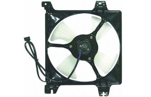 Mitsubishi Galant Ac Condenser Cooling (99-03 MITSUBISHI GALANT (2.4L, 3.0L) AC CONDENSER COOLING FAN (W/ SHROUD, W/ MOTOR) 00 01 02 1999 2000 2001 2002 2003)