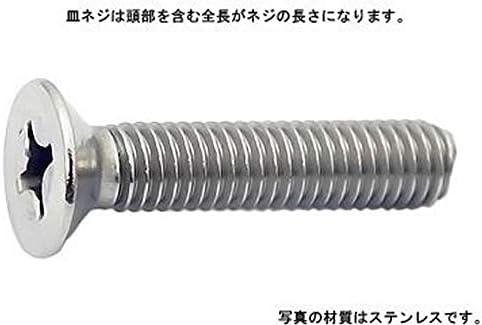 (+)皿小ねじ(全ねじ 8 X 12鉄(または標準)クローム【300】
