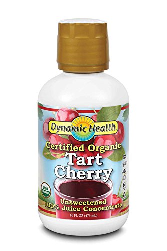 Dynamic Health Certified Organic Tart Cherry | unsweetened 100% Juice Concentrate | Vegan, Gluten-Free, Bpa-Free | 16oz, 16 Servings