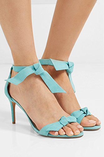 Straps Blue Shoes US Stiletto Sandals 5 Summer 5 Ankle Women Party 12 High Fashion Lutalica Heel Size wqEaIZxRW