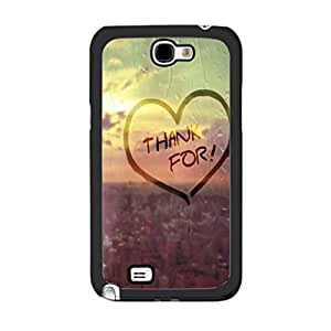 Cute Girlie Love Graphics Hipster Heart Design with Quotes Plastic Cover Case for Samsung Galaxy Note 2 N7100 Hard Cell Phone Skin (city raindrop)