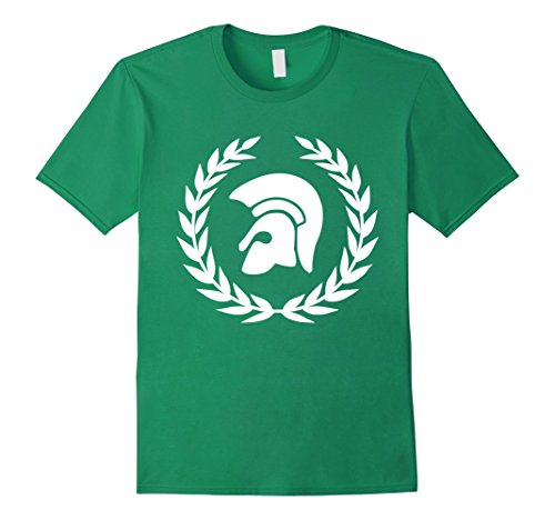 Mens Trojan Wreath T-Shirt Greek Mythology Ancient Greece Tee XL Kelly (Trojans Tee)