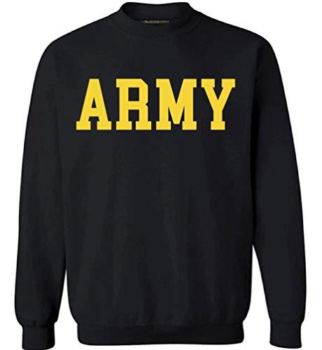 Awkwardstyles Army Sweater Black Military Physical Training Sweatshirt (Large, Army Crewneck 3)