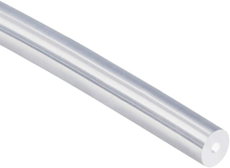 sourcing map Tubo de silicona 4 mm ID X 6 mm OD 16.4 Tubo flexible de caucho de silicona Tubo de manguera de aire de agua Transparente para transferencia de bomba