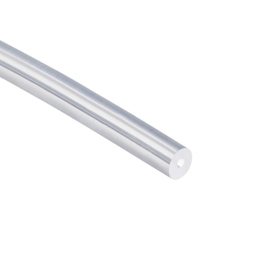 Sourcing map Tuyau flexible en silicone pour transfert de pompe Transparent 1 mm ID x 4 mm OD 3,28 m 1 m