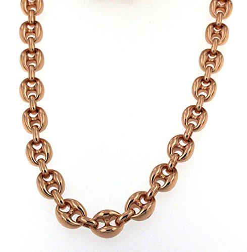 Collier cha ne ou bracelet grain de caf or jaune ou ros - Chaine graine de cafe or homme ...