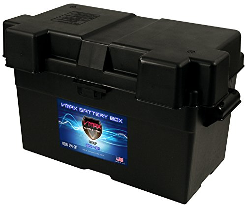 VMAX VBB-24-31 Group 24 27 31 Adjustable Commercial Grade Battery Box for Automotive, Marine and RV Batteries MADE IN USA Outer Dimensions:17-3/4