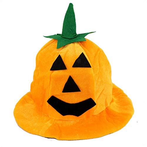 (Baigoods Wholesale Cos Halloween Pumpkin hat Pumpkin Motifs Lint Top Orange Hats (B))