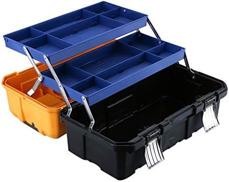 工具箱ア折りたたみ収納ボックストレイと仕切りを備えたツールボックス多目的3層