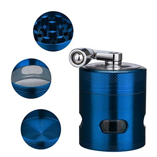 Vovomay Tobacco Grinder-4-layer 40mm Metal Herb & Spice Mills Grinder Spice Graters Cursher (Blue)