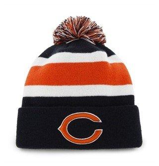 - Chicago Bears Blue Cuff Breakaway Beanie Hat with Pom - NFL Cuffed Winter Knit Toque Cap