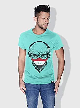 Creo Syria Skull T-Shirts For Men - M, Green