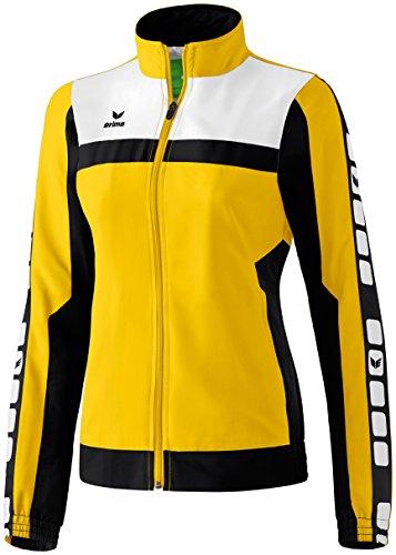 Mujeres Erima 5-CUBOS Prsentationsjacke 5-CUBOS Serie amarillo / negro / blanco, Opciones Tamaño: 42 Mujeres