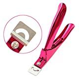 #9: Rustproof Stainless Steel Artificial Acrylic Fake False Nail Tip Clipper Cutter Trimmer Manicure Pedicure Sharp Lightweight Clip Tool For Salon DIY Home Nail Art Pink by GADGETS ENTREPOT