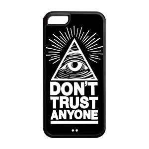 5C Phone Cases, Don't Trust Anyone Triangle Hard TPU Rubber Cover Case for iPhone 5C