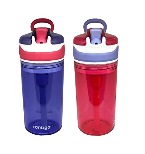 (Contigo Kids 2 and 1 Snack Hero Kids Tumbler and Snack Cup- 13 oz - 2 pack - (Purple-Red))