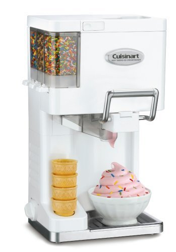 Most Popular Home Family Kids Kitchen Soft Serve Ice Cream Yogurt Sorbet Sherbet Maker With Three Topping Condiment Holder- Simple Fun Delicious- Serve Yourself Family Friends The Best Dessert Ever For Sale