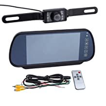 AGPtek® 7-Inch LCD Color Screen Car Back up Rearview Monitor for DVD Car Rearview Backup Camera with Remote Control