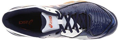 Zapato De Voleibol Asics Hombres Gel-domain 3 Azul Marino / Relámpago / Blanco
