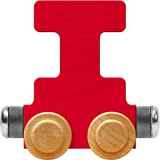 product image for Maple Landmark NameTrain Bright Letter Car I - Made in USA (Red)