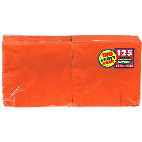 Big Group Ideas For Halloween Costumes (Amscan Big Party Pack 125 Count Luncheon Napkins, Orange)