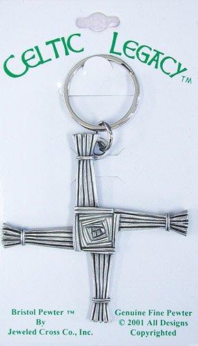Fine Pewter Keychain - Fine Pewter St. Brigid's Cross Key Chain