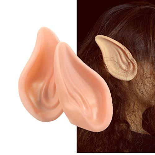 Dealglad Latex Fairy Pixie Elf Exorcist Fake Ears Halloween Costume Party Props Cosplay Soft Prosthetic Ear -