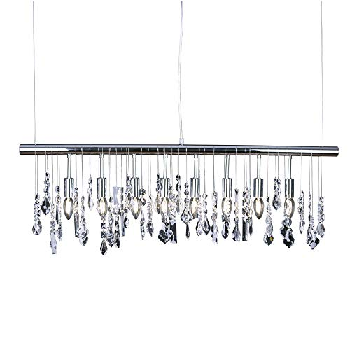 (Modern K9 Crystal Pendant Light E12 Ceiling Lighting Drop Chandelier Lamp 40