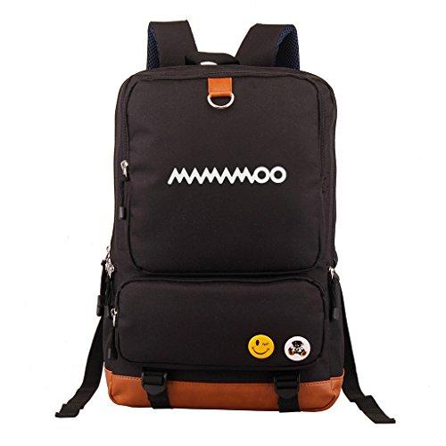 Fanstown Kpop Backpack Pencil case Set Canvas Messenger Bag Black EXO Shinee BTS VIXX EXO -