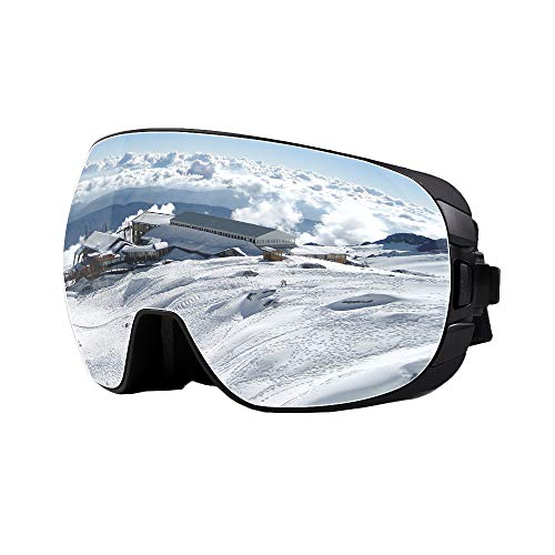 - Unilamp Ski Goggles, Over Glasses Ski/Snowboard Goggles PRO - Frameless Detachable Lens Anti-Fog 100% UV Protection for Men, Women & Youth (Gray 1)
