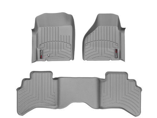 WeatherTech Custom Fit FloorLiner for Dodge Ram Truck 1500/2500/3500-1st & 2nd Row (Grey)