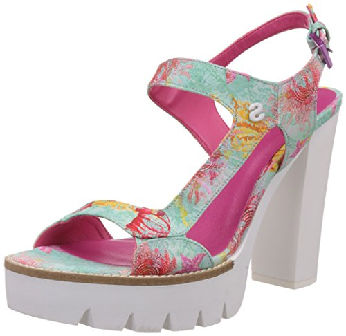 Desigual Sandalo Con Tacco Venice 3 Verde/Fucsia EU 41
