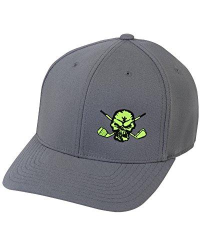 Tattoo Golf Hat (Lucky 13 Golf Hat by Tattoo Golf - Grey/Yellow)