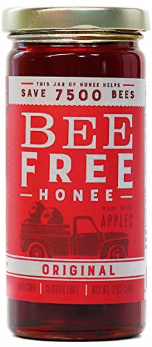 Bee Free Honee - Vegan 'Honey' made from Organic Apples that's Safe for Children & those allergic to Honey! Tasty Honee that's Plant Based, Non-GMO & Cooks Perfectly into your foods! (Original - 12oz)
