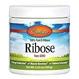 Carlson Labs Ribose 100% Pure d-Ribose, 100g