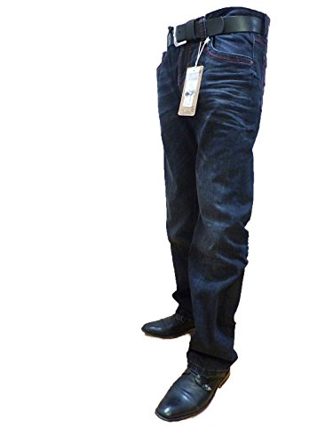 CAMP DAVID BLACK USED R611 REGULAR FIT BOOTCUT LOW WAIST